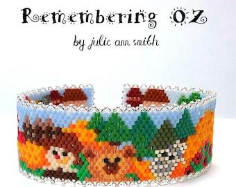 Julie Ann Smith Designs REMEMBERING OZ Odd Count Peyote Bracelet Pattern