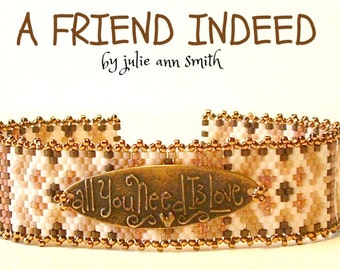 Julie Ann Smith Designs A FRIEND INDEED Odd Count Peyote Bracelet Pattern