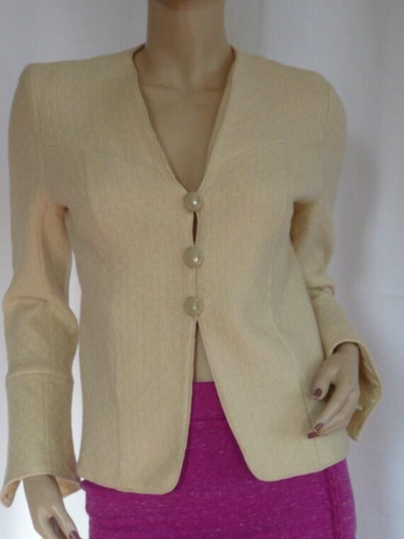 1940s Vintage Wool Cream Crop Jackets Fantastic Bu