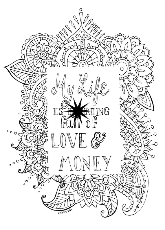 Adult Swear Word Coloring Page Mature Content Instant Etsy