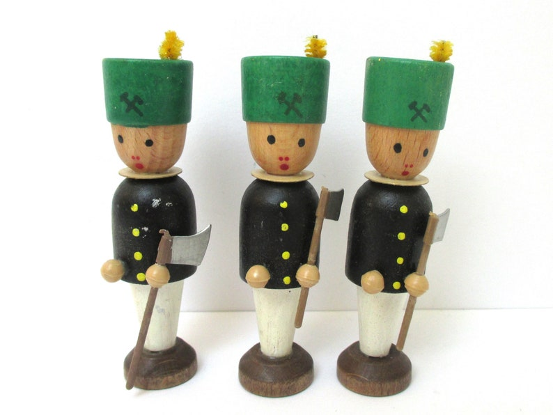 Wooden Rustic Nutcracker Soldier Christmas Ornament