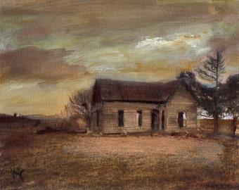 Forgotten 8x10 Canvas Giclee Print of Original Oil Painting by Kathleen Farmer Denver Artist