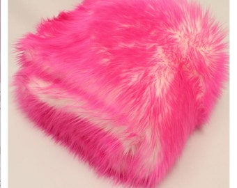 Pink Pussy faux fur Kitty hat - Cotton Candy Shaggy Pink Pussy hat - Pink & White  - fleece lined  pink - Burning man burningman