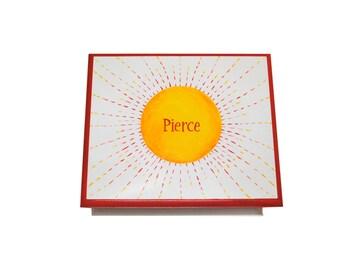 Baby keepsake box You are my sunshine memory Box personalized baby gift hand painted