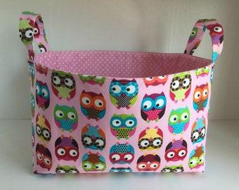 Kawaii Owl Storage basket  ***Fabric Organizer Bin Storage , Container Basket***