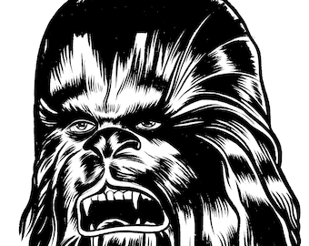 Chewbacca ORIGINAL Pen and Ink Drawing