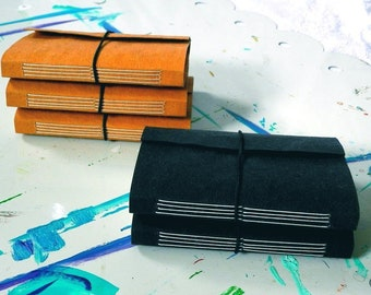 black or natural wisdom journal - 3 x 4 inches with 2.75 x 3.75 inch pages - mixed media paper - 2 color choices