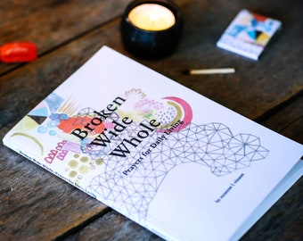broken wide whole: prayers for daily living by suzanne l. vinson - prayer book, book of prayers, religious gift for her, retreat gift