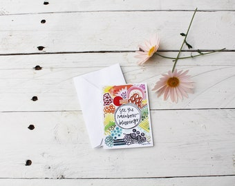 see the rainbow blessings enclosure card - 2.75x3.75 inches - blank reverse