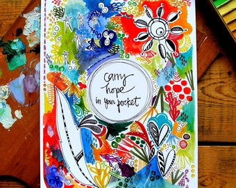 carry hope in your pocket - 9 x 12 inches