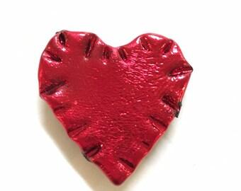 Valentine Heart Pin Sale, Heart Magnet, Heart Pin, Heart Brooch, Valentine Day