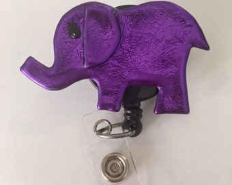 Purple Elephant Badge Reel