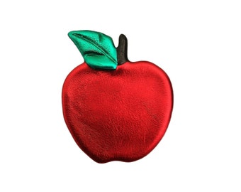 Apple Pin, Apple Jewelry, Teacher Jewelry, Teacher Gifts, Fall Jewelry, Apple Magnet