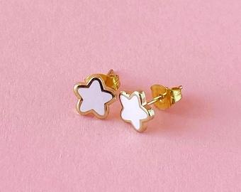 Mini Star Earrings • Pink