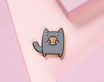 Snack Attack Cat Cookie • Hard Enamel Pin