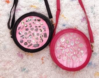 Bubblegum Ita Bag | Crossbody Ita Bag | Enamel Pin Display