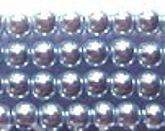 3mm Elegant Blue Violet Glass Pearls 50 pcs