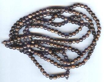 """6mm Rich Grainy Dark Palmwood Round Wood Beads 16"""" Strand"""