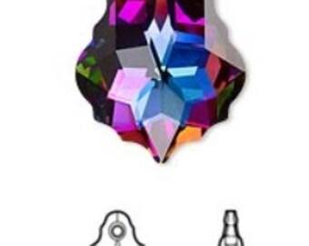 Swarovski Baroque Electra Crystal Pendant 22x15mm