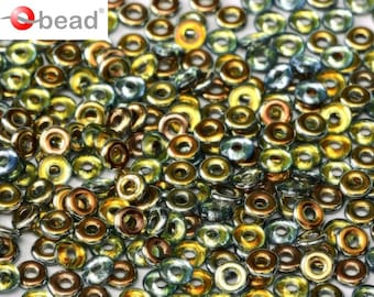 Czech Glass O bead ® 3.8x1 mm Crystal Marea 2.5 or 5gms