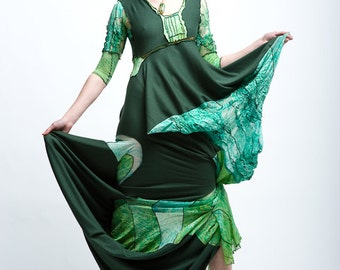 Emerald Embroidered Gown Size S/M