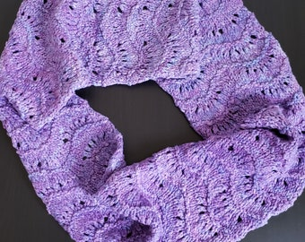 URBAN LACE Chunky Lace Cotton Infinity Scarf Cowl Thick Cozy OOAK