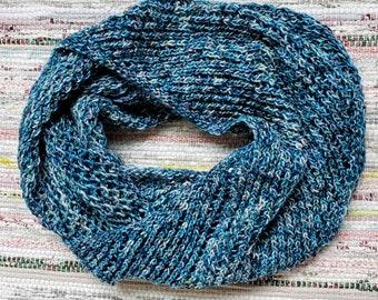 LAGO Infinity Scarf Cowl OOAK Mesh Fishnet Wool Cowl
