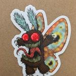 Mothy the Mothman Sticker