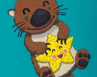 Sea Otter 11x14 original painting