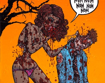 Zombie Girl Nom Nom Nom