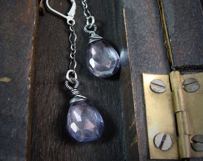 into the mystic ... blue mystic quartz and sterling silver earrings, gifts for her
