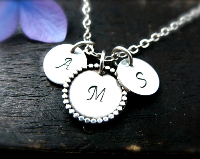 kindred ... family initial, mothers necklace, personalized necklace, gifts for her