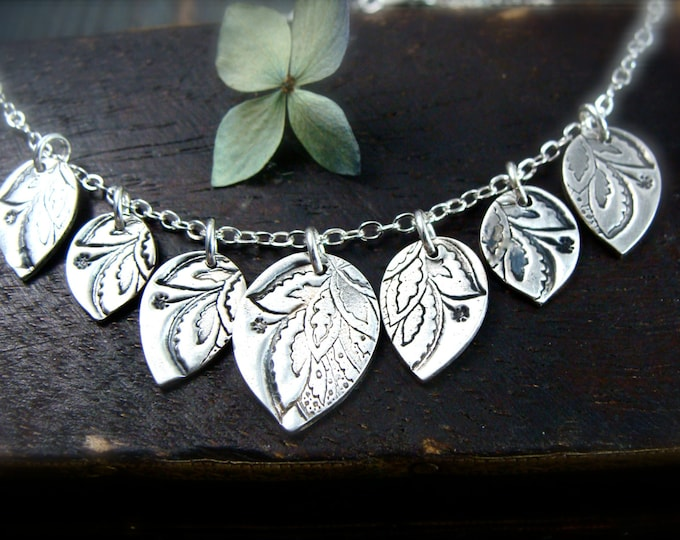 gypsy petal ... sterling silver necklace, handmade jewelry, gifts for her