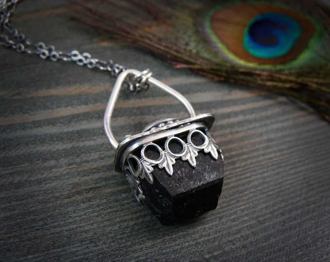 witchy woman … black tourmaline protection amulet