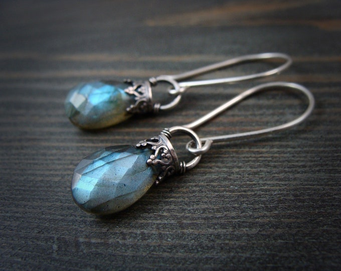 siren's song ... labradorite and sterling silver dangles ...