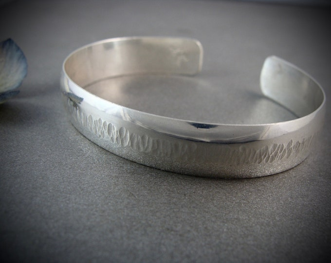 chizel ... solid sterling silver cuff, cuff bracelet, silver cuff, gifts for her