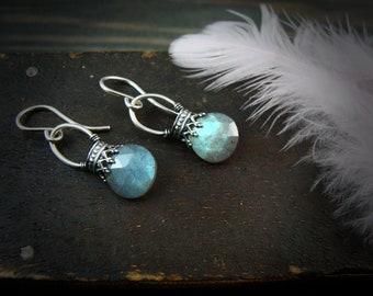 labradorite lanterns ... gemstone earrings, sterling silver dangles,925, labradorite earrings, gifts for her
