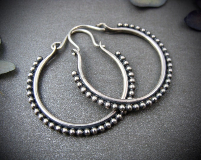 small fusion ... sterling silver hoops, handmade jewelry, gifts for her