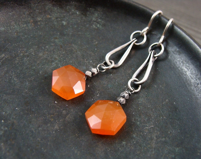 vitality ... carnelian and sterling silver earrings, gifts for her