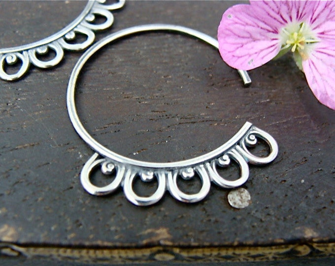 Seville ... petite sterling silver hoops, handmade jewelry, gifts for her