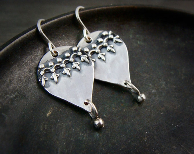 Seville.. sterling silver dangles, handmade jewelry, gifts for her