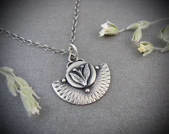 earthing ... handmade sterling silver pendant, gifts for her, layering pendants