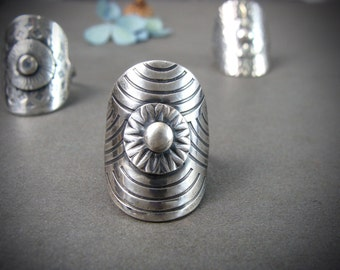 shield maiden ... sterling silver ring, statement ring, boho rings, unique rings, gifts for her