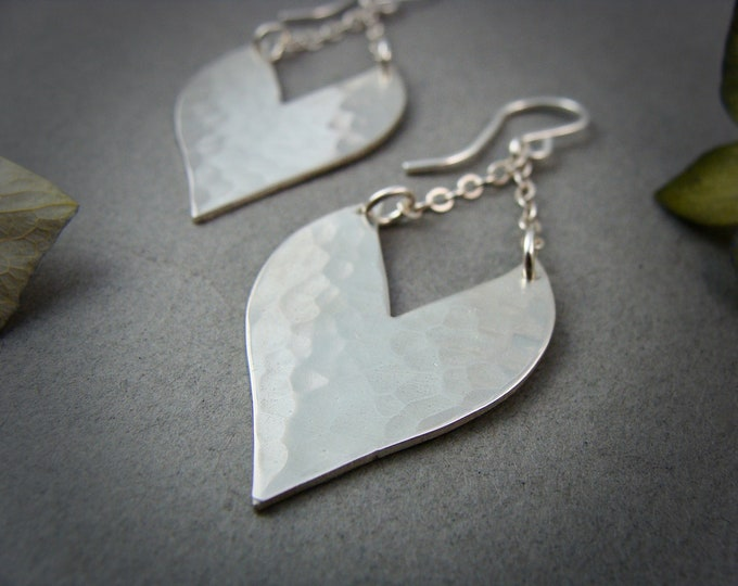heart strings ... sterling silver dangles, handmade jewelry, gifts foe her