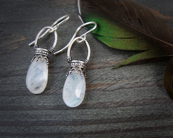 moonstone lanterns ... gemstone earrings sterling silver dangles