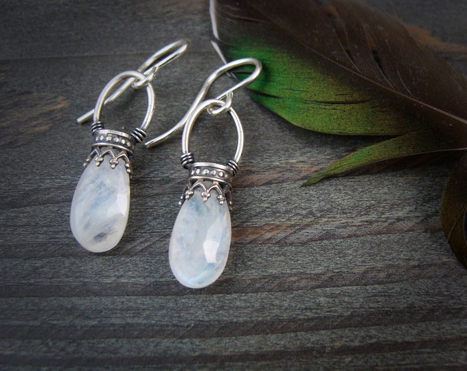 moonstone lanterns ... gemstone earrings sterling silver dangles