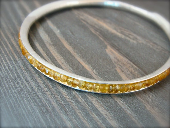 citrine bangle, gemstone bangle, November Birthstone, citrine bracelet, stack bangle, silver bangle, gifts for her