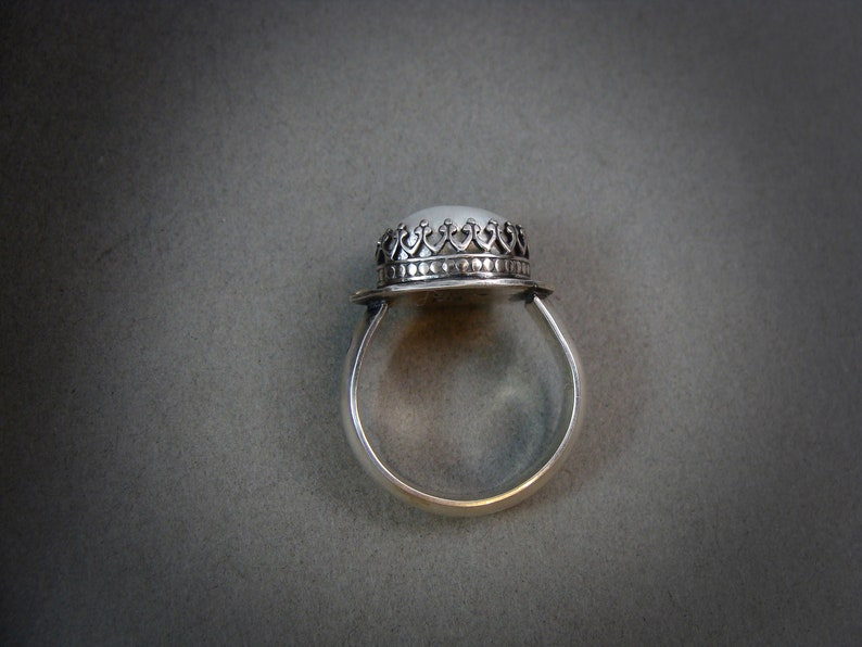 gifts for her pearl jewelry pearl ring Baroque pearl cocktail ring .