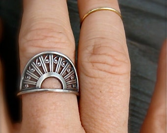 deco ... sterling silver ring
