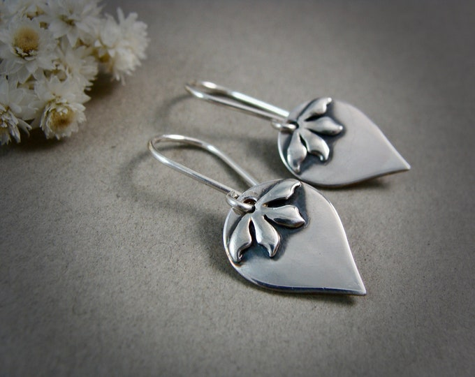 Florence dangles... sterling silver drops, silver dangles, handmade jewelry, gifts for her